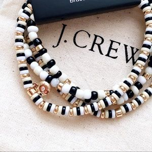 J. Crew Beaded Stretch Bracelet Set of 4